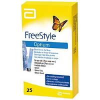Тест-полоски FreeStyle Optium (ФриСтайл Оптиум), 25 шт