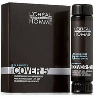 L'Oreal Professionnel Homme Cover 5 Мужской окрашивающий гель для седых волос №6 150 мл