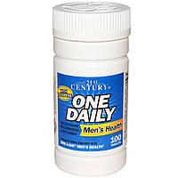 21st Century, One Daily мультивитамины для мужского здоровья, витамины 100 таблеток