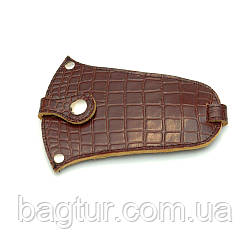 Ключница кожаная 01 коричневый кайман 06010206