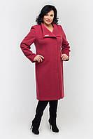 Пальто женское кашемировое -Л-557 вино