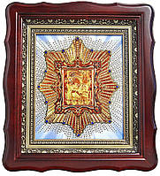Почаевская Чудотворная икона (резная, камни)
