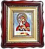 Почаевская икона со стопой (с камнями, резное дерево)