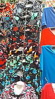 Велюровый халат с цветами