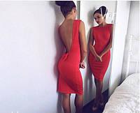 Платье элегантное модное с открытой спинкой декорированной бантиком