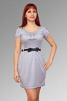 Платье из французского трикотажа с коротким рукавом 291