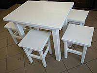 Стол кухонный деревянный белый (80/60)