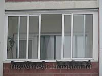 Установка раздвижных балконов