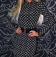 Платье мини облегающее с принтом LV