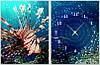 """Модульная картина-часы (60х40 см) """"Морской обитатель"""""""