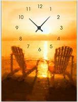 """Картина-часы (30х40 см) """"Шезлонги"""""""