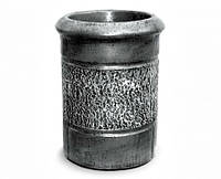 """Урна для мусора """"Круглая"""" под серебро в лаке"""