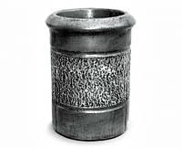 """Урна для мусора """"Круглая"""" под бронзу в лаке"""
