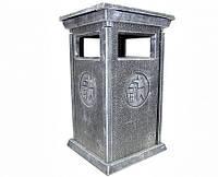 Урна для мусора разборная под серебро в лаке