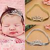 Детская корона МИЛА на повязке серебро диадема детская для девочки аксессуары для волос, фото 5