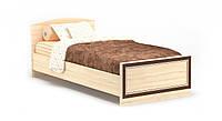 """Кровать """"Дисней"""" 90х200 см. Дуб светлый, ламель"""