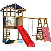 """Детский домик и игровая площадка для детской площадки """"Сказка -2"""""""