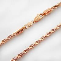 Цепочка xuping 3мм 45см позолота 18к веревка
