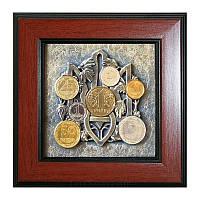 Сувенір Тризуб з монетами