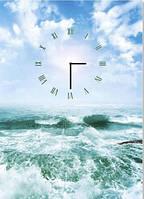 "Картина-часы (50х70 см) ""Прибой моря"""