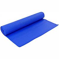 Коврик для йоги и фитнеса с чехлом Zelart Yoga Mat 5мм (синий) (YG-2775-2 B)