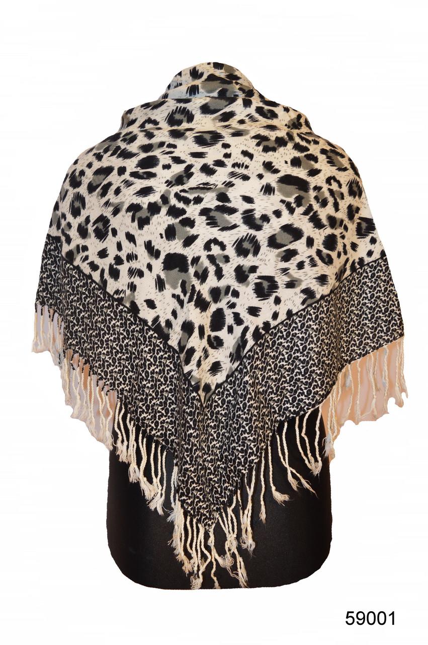 Серый леопардовый кашемировый платок, фото 1