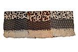 Коричневый леопардовый кашемировый платок, фото 4