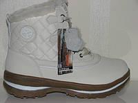 Зимние женские кроссовки ботинки с мехом белые высокие Тимберленды