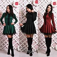"""Женское демисезонное нарядное платье """"Берта"""" в разных цветах"""