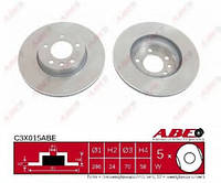 ABEC3X015ABE Тормозной диск
