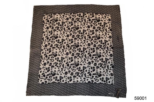 Серый леопардовый кашемировый платок 2