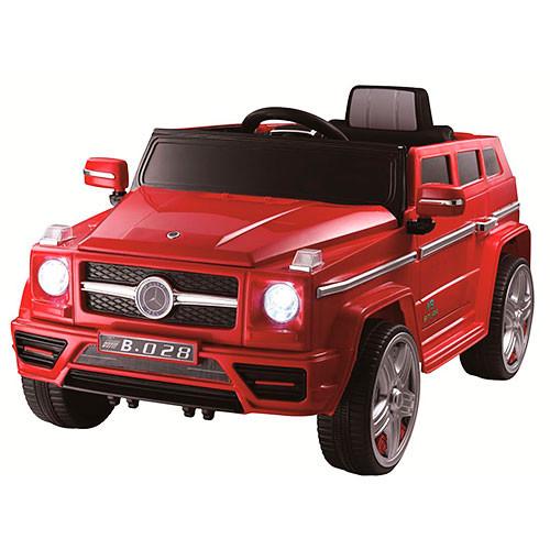 Детский электромобиль Джип Mercedes M 3173 EBR красный, колеса EVA, амортизаторы, двери, пульт Bluetooth
