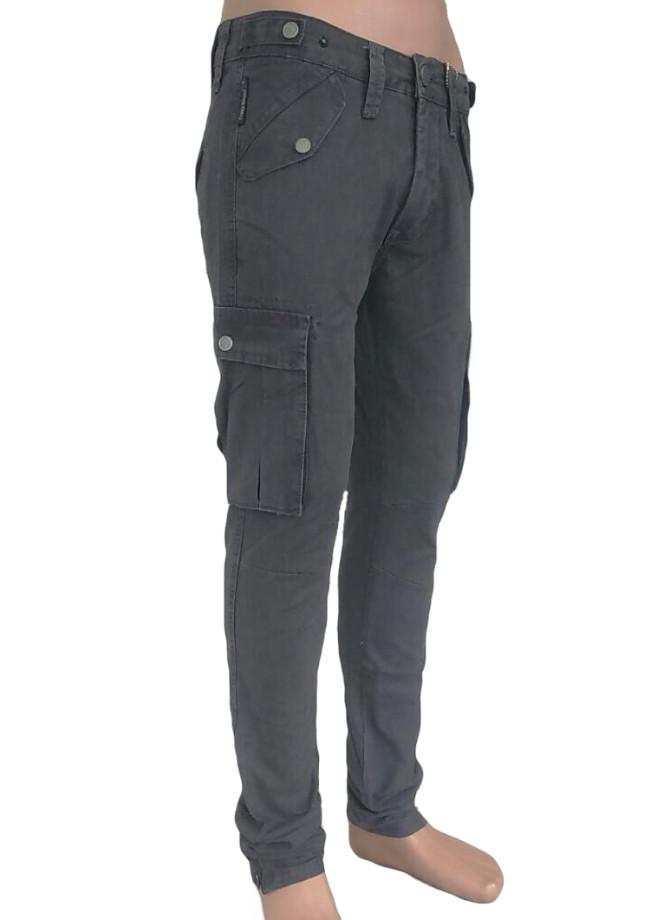 Джинсы мужские Карго узкие с накладными карманами