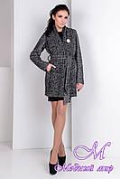 Роскошное женское пальто серого цвета  (р. S, M, L) арт. Капучино крупное букле 9274