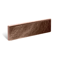Цокольная плитка «Литос» (кирпич тонкий) колотая с фаской, БОРДО