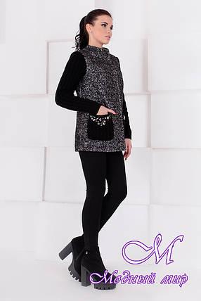 Короткое женское демисезонное пальто (р. S, M, L) арт. Карамель крупное букле 9061, фото 2