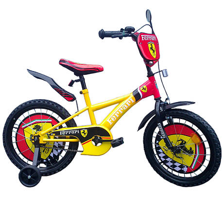 """Велосипед двухколесный """"Ferrari"""" 18 дюймов на 5, 6, 7 лет, фото 2"""