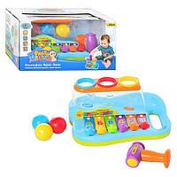Ксилофон Joy Toy  9199  с шариками и молоточком