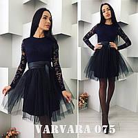 Женское платье материал  дорогой гипюр+трикотажная подкладка, юбка дайвинг+фатин