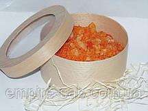 Морская соль с маслом апельсина в натуральной упаковке