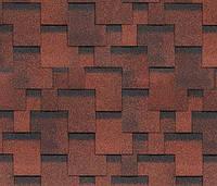 Битумная черепица SHINGLAS Финская Аккорд, красный, 3 кв.м./упаковка