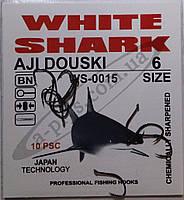 Крючок рыболовный / AJI DOUSKI / №6 / White Shark