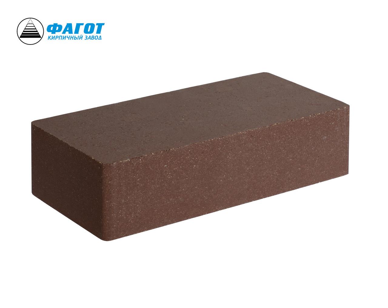 Кирпич облицовочный ФАГОТ коричневый гладкий Е