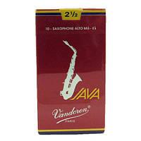 Vandoren SR2625R Java трость для альт-саксофона №2,5 Red Cut