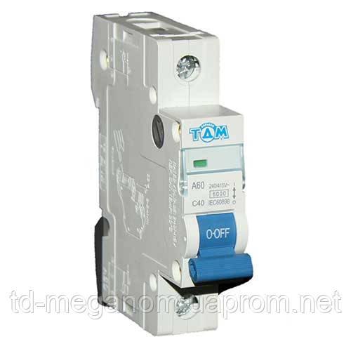 Автоматичний вимикач ТДМ А60 1Р 40А 4,5 кА х-ка С