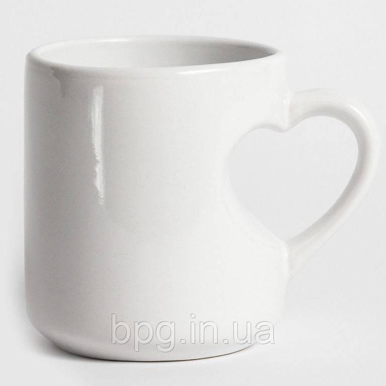 Чашка для сублимации с ручкой-сердцем
