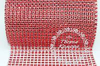 Шина красная (лента с имитацией страз), 20 см в наборе