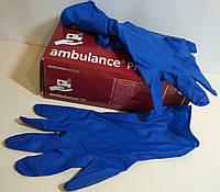 Перчатки Резиновые Синие Плотные (M, L, XL)