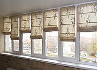 Римские шторы . Хлопок, Римские шторы из натуральных тканей, Лён