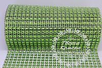 Шина зеленая (лента с имитацией страз), 20 см в наборе